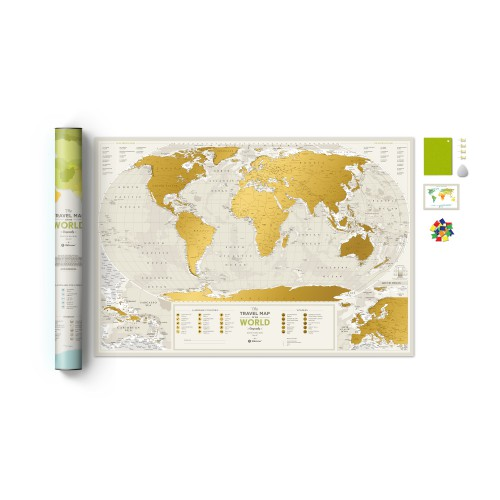 TRAVEL MAP WORLD GEOGRAPHY