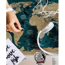 TRAVEL MAP WORLD MARINE